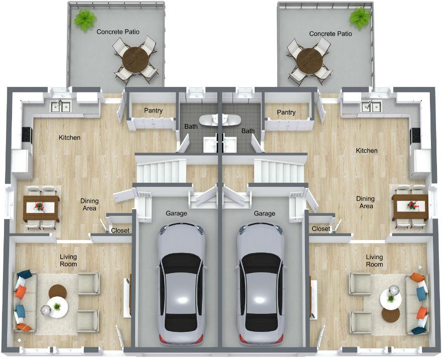Interior Layout Floor 1