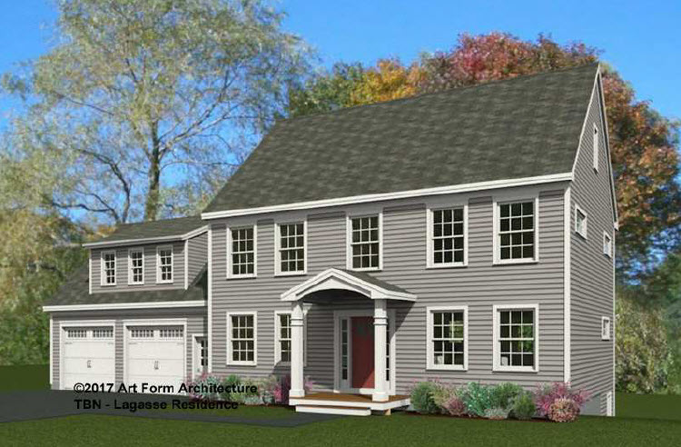 Built by adams semi custom home building packages in for Maine home building packages