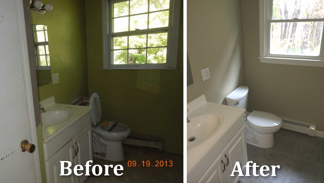 Bretonwholehouseremodelbathroombeforeafter Built By Adams - Whole bathroom remodel