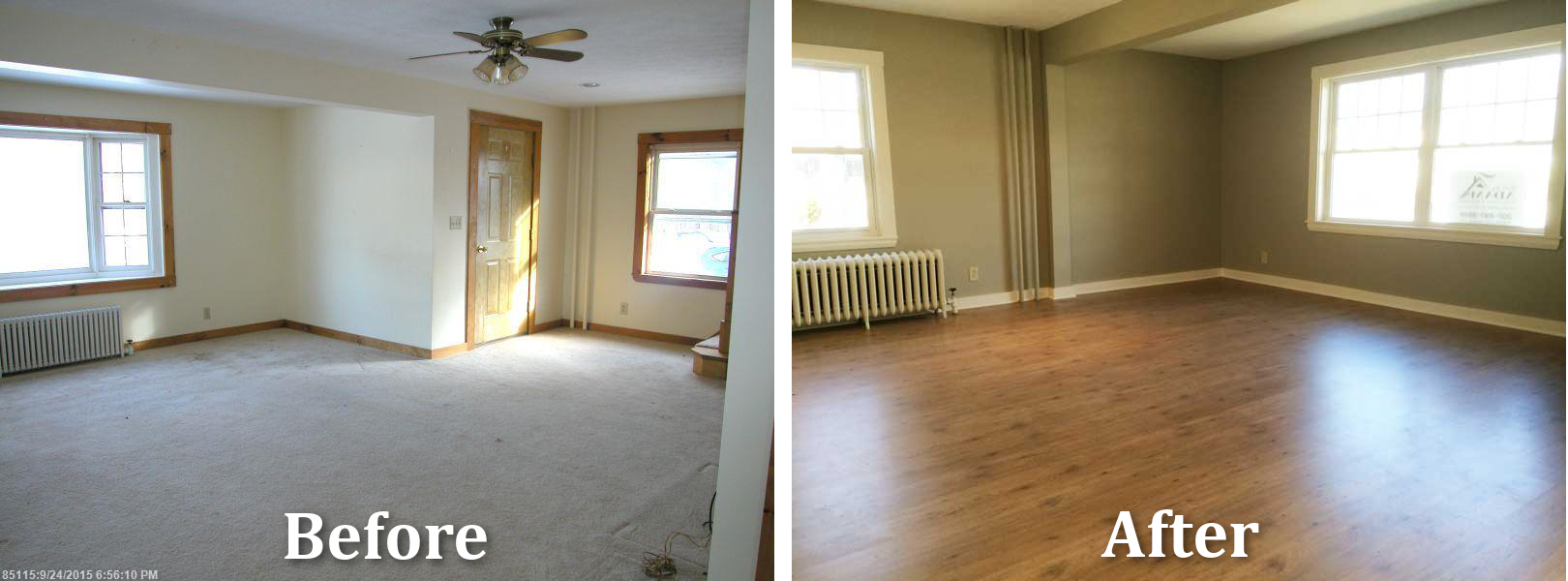 Sanford Maine Home Remodeling Livingroom Before After