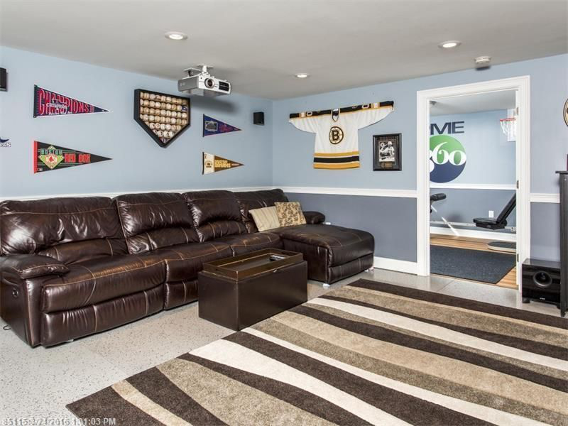 Basement remodeling in york maine built by adams for Cost of building a house in southern maine