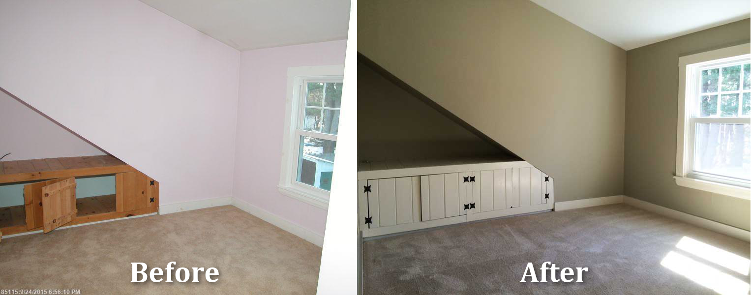 Sanford Maine Home Remodeling Bedroom Before After